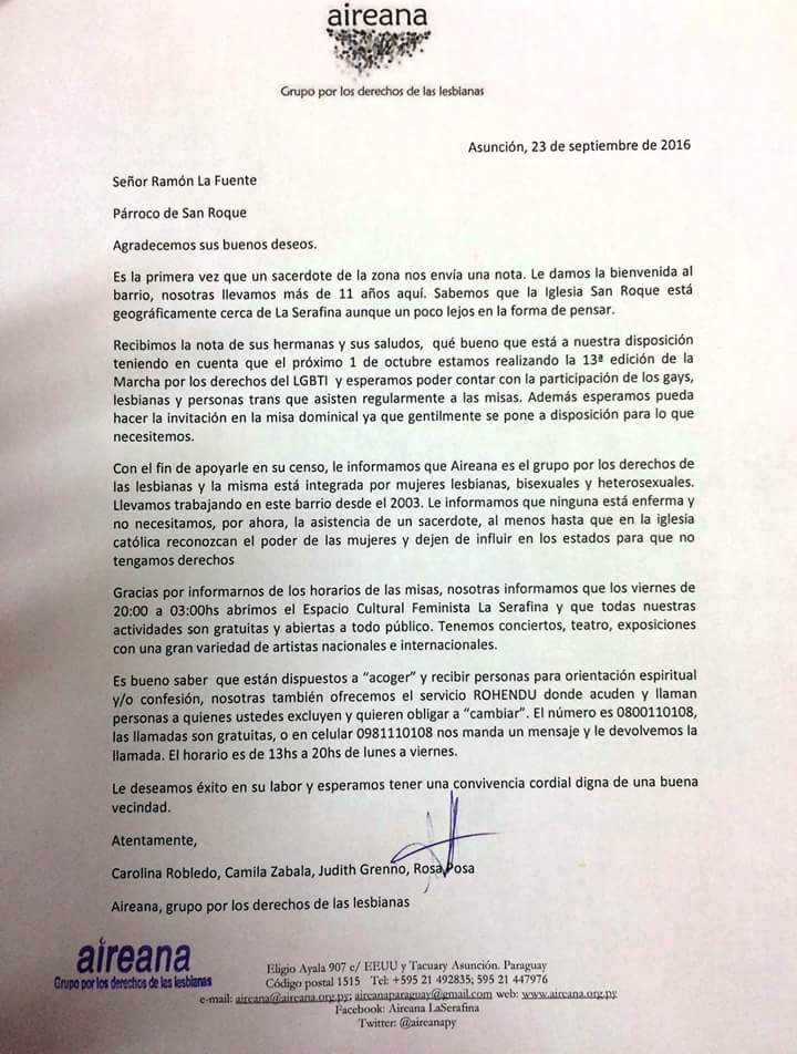 970 Am On Twitter Carta Que El Párroco De La Iglesia San Roque
