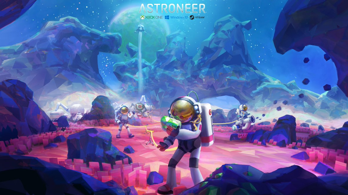 #screenshotsaturday 2 of 2 -- An Astroneer Desktop wallpaper @ 1440p High res: http://astroneer.space/images/Astroneer_Wallpaper_1440p_02.jpg … ...