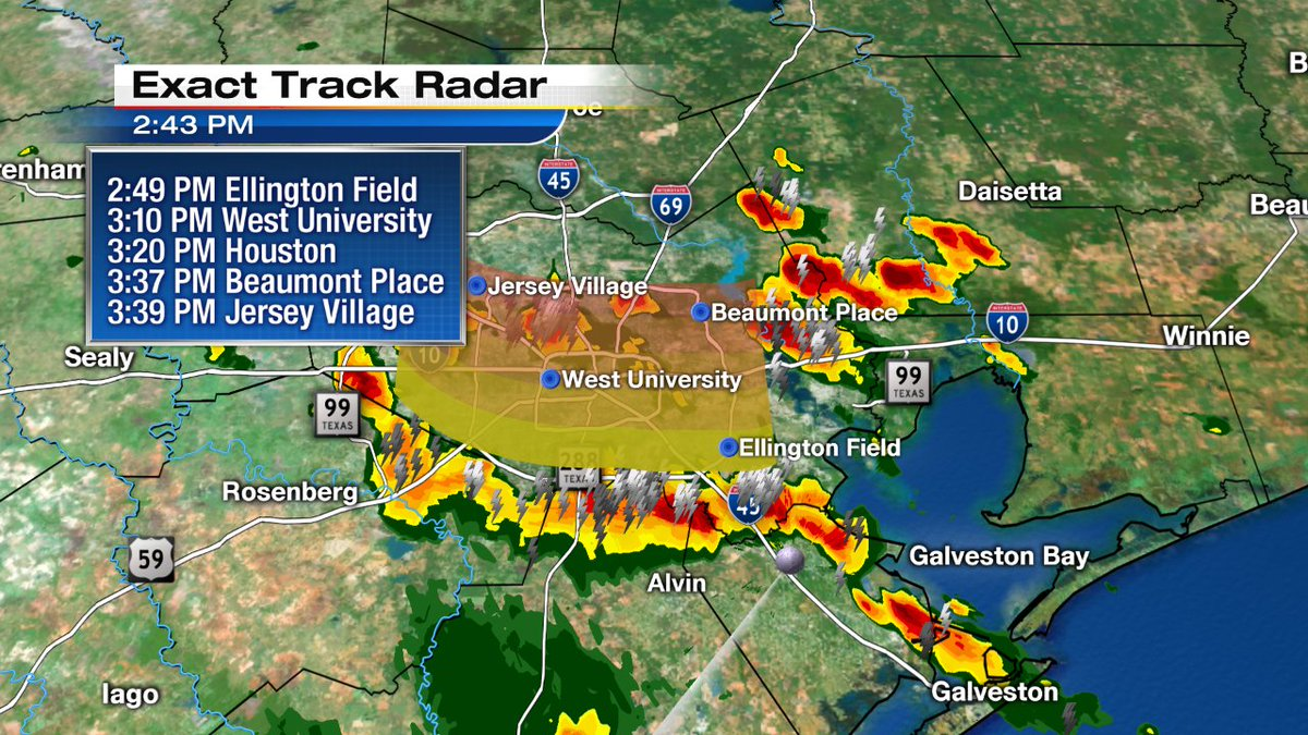 Heads up Houston! Line of thunderstorms is moving north across South Loop now. Track them