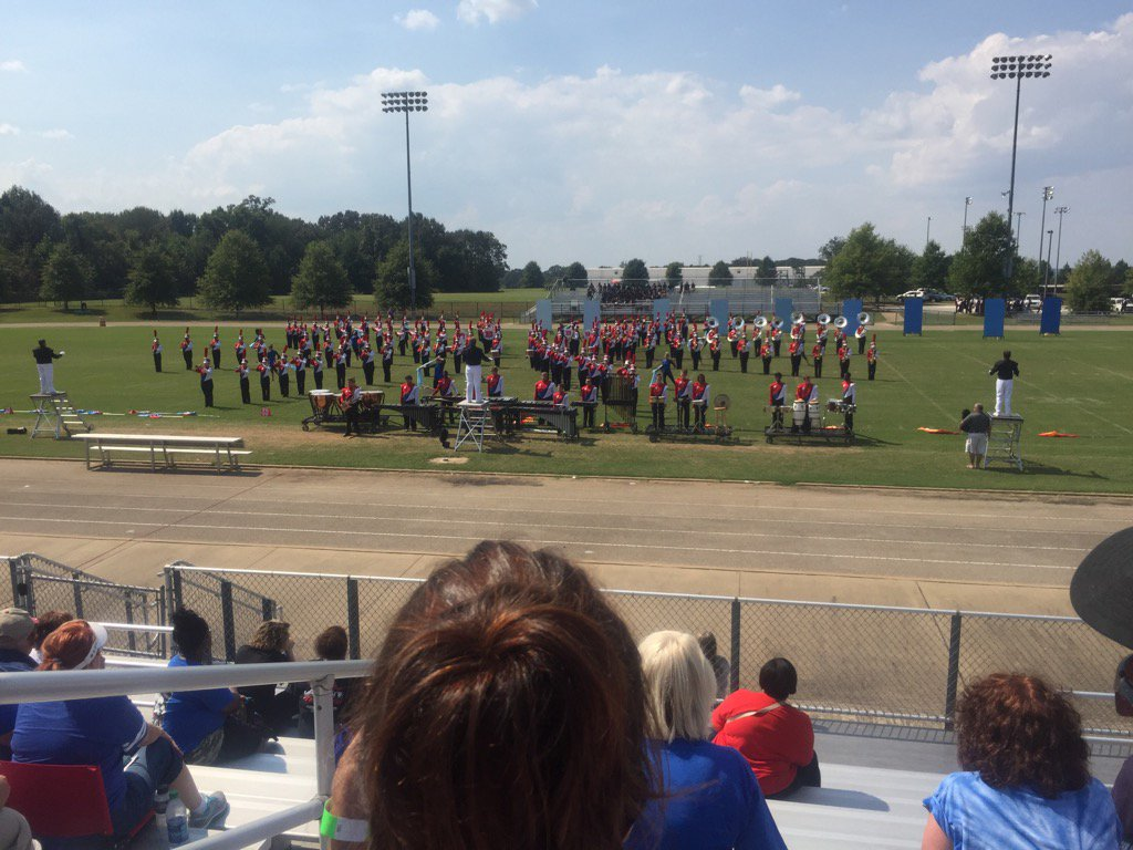 Bartlett HS Marching Band in the WTSBOA Competition today in 94 degree heat. Panthers were burning up the field.