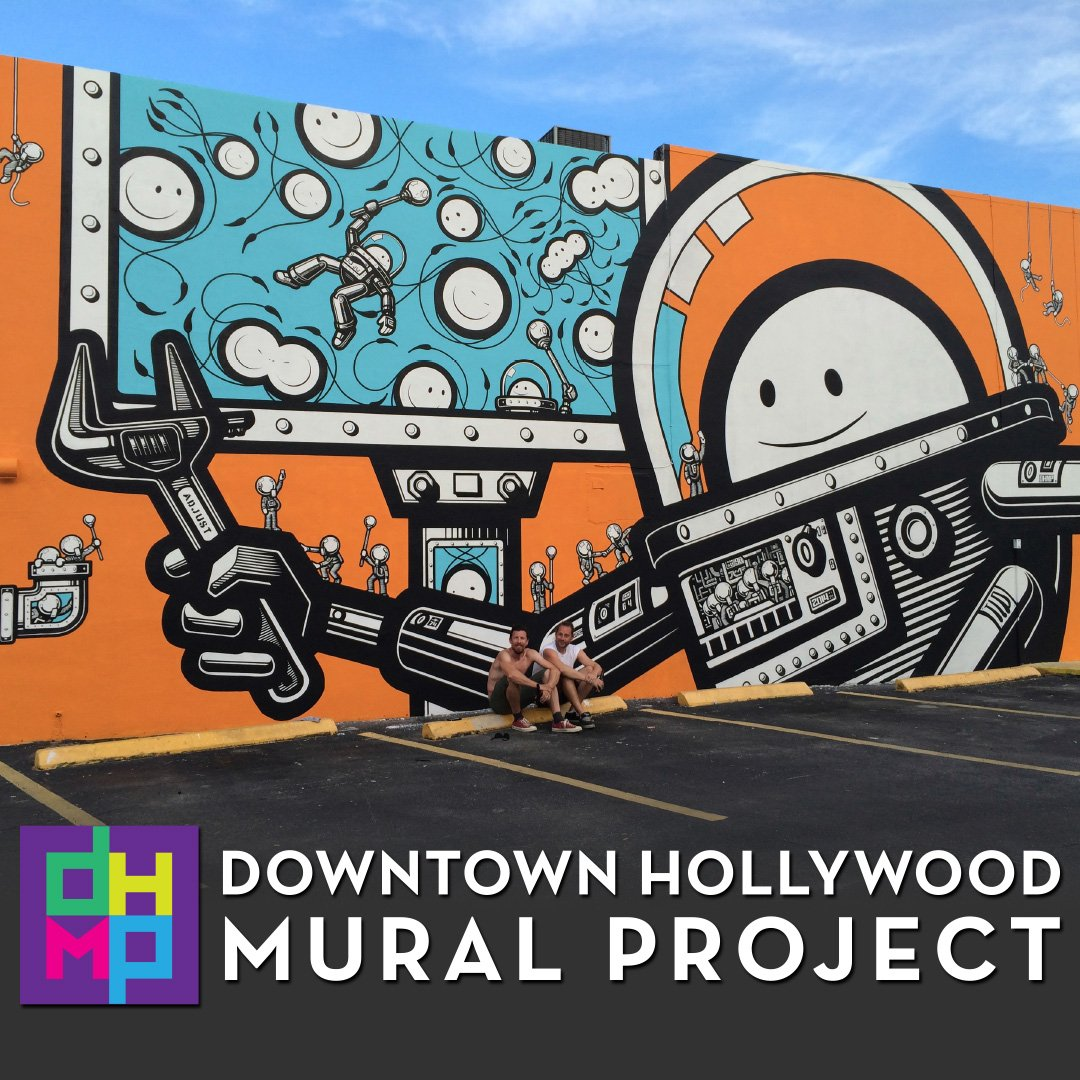 Roam roamcoliving twitter for Downtown hollywood mural project