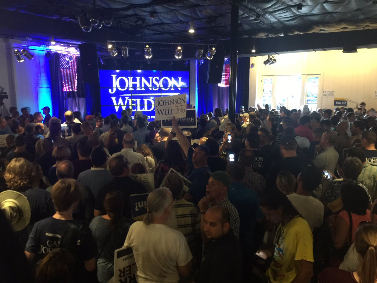 Packed house for Libertarian Candidate for President @GovGaryJohnson rally here in Austin @fox7austin