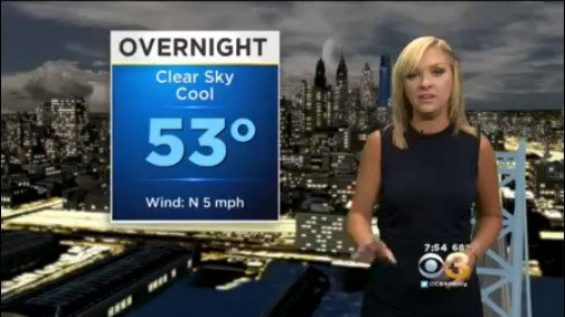 @LaurenCBS3 Has The Cooler Saturday Night Forecast