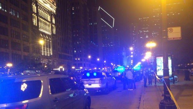 Man shot Saturday night following a dispute on Michigan Avenue just outside Millennium Park