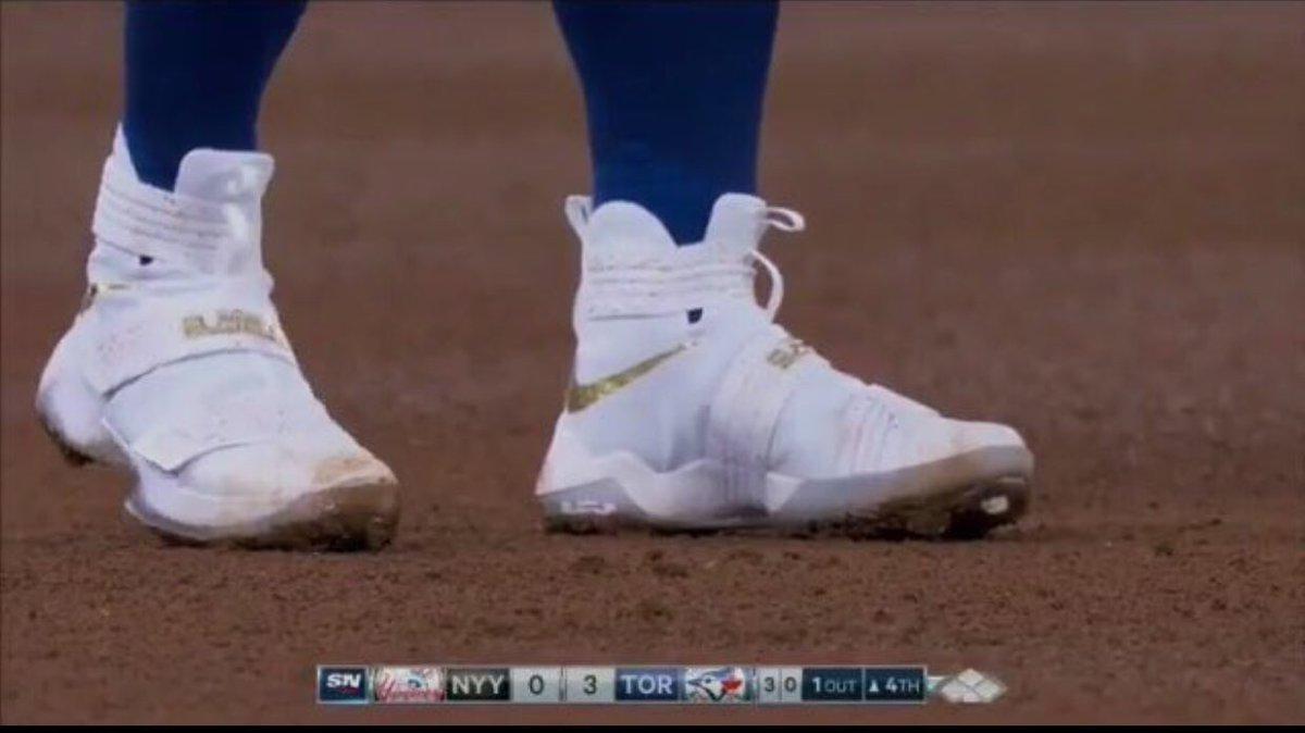 2fe4e62a4e3 Andrew McCutchens Nike Baseball Cleats Ohio State Nike LeBron Soldier 11  Cleats Darren Rovell on Twitter ...