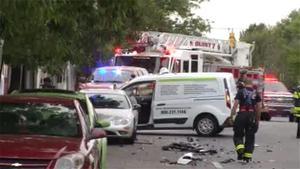Fire truck and minivan collide in Wilmington