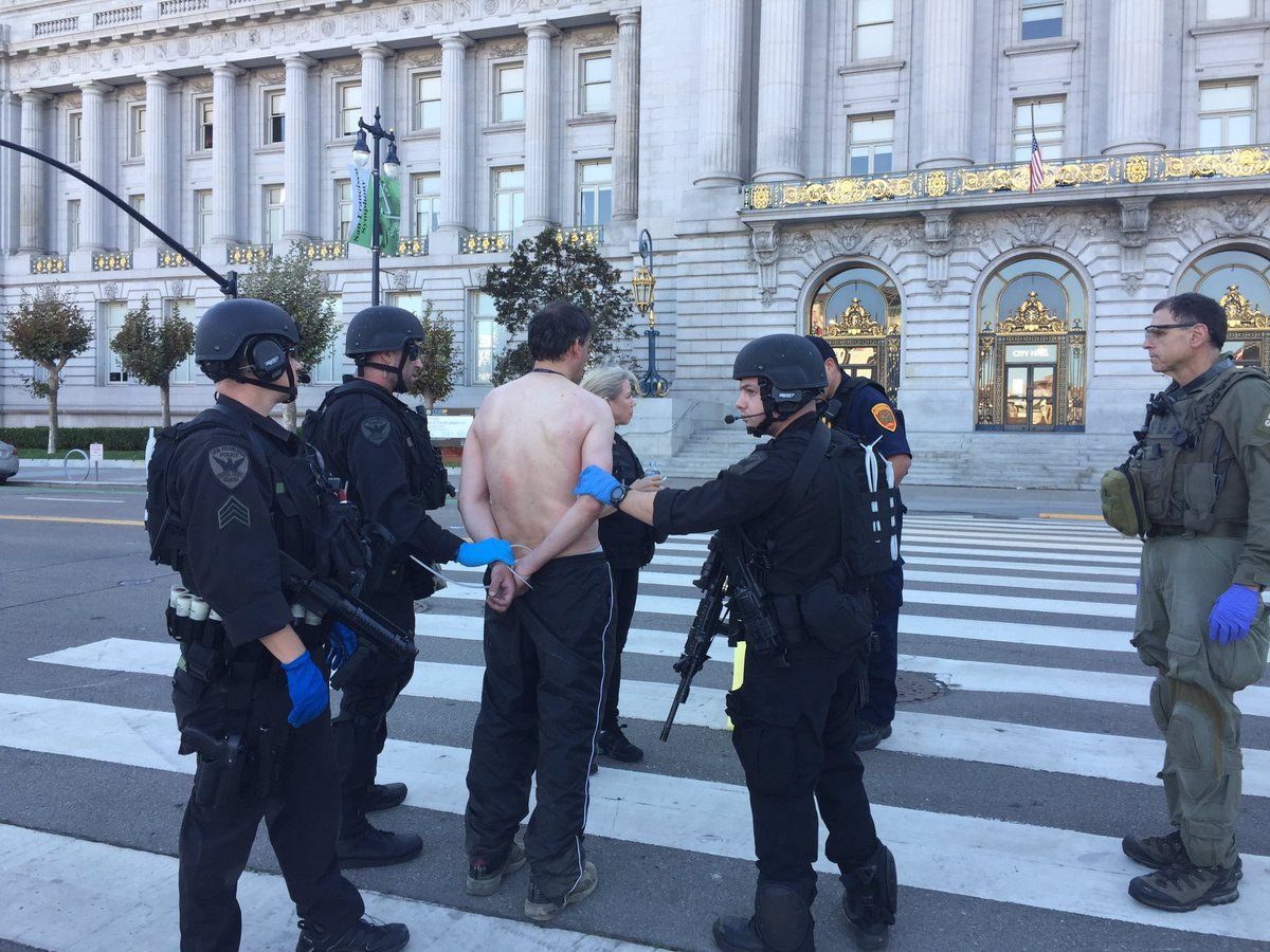 This is the man involved in a 6-hr standoff with SFPD outside city hall. What we're learning about him @KTVU at 10.