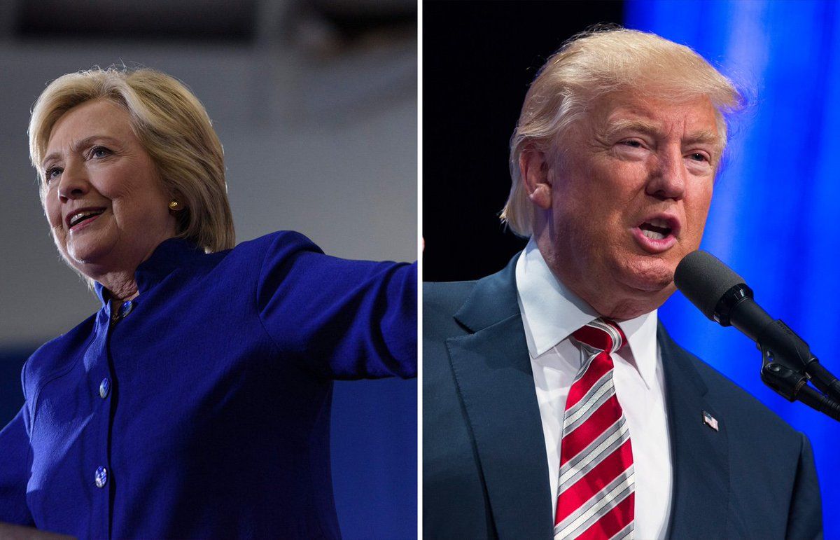 The face-off between Hillary Clinton and Donald Trump is taking on Super Bowl dimensions