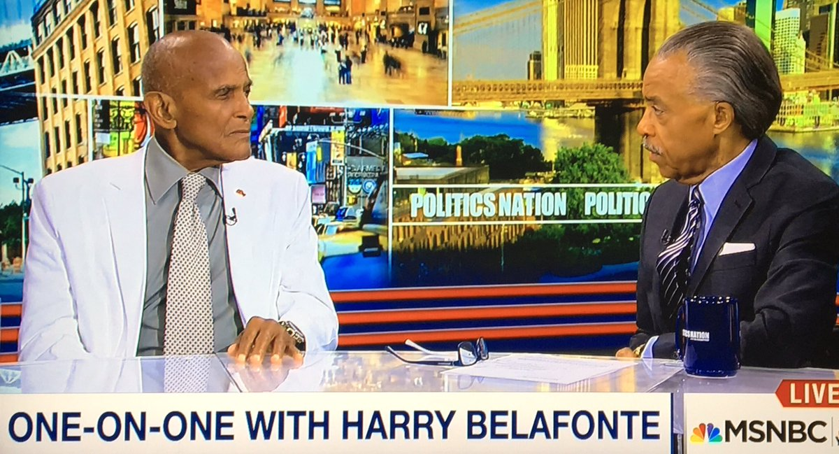 Image result for harry belafonte al sharpton politics nation