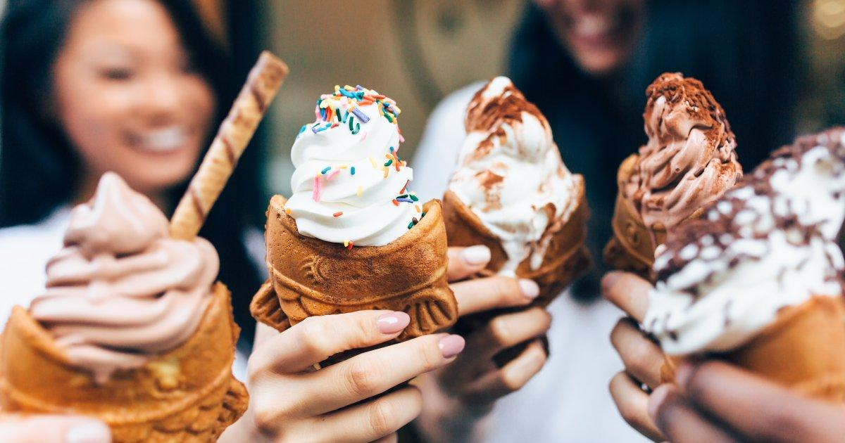 GO FISH: Fish-shaped cones are a lure at this new Chinatown ice cream shop