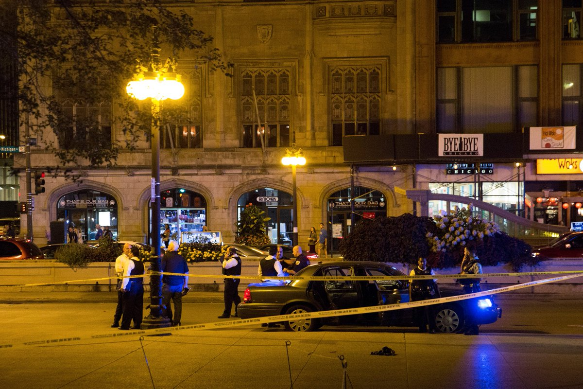 A 54-year-old man shot in the head near Millennium Park is among 17 hurt in city shootings