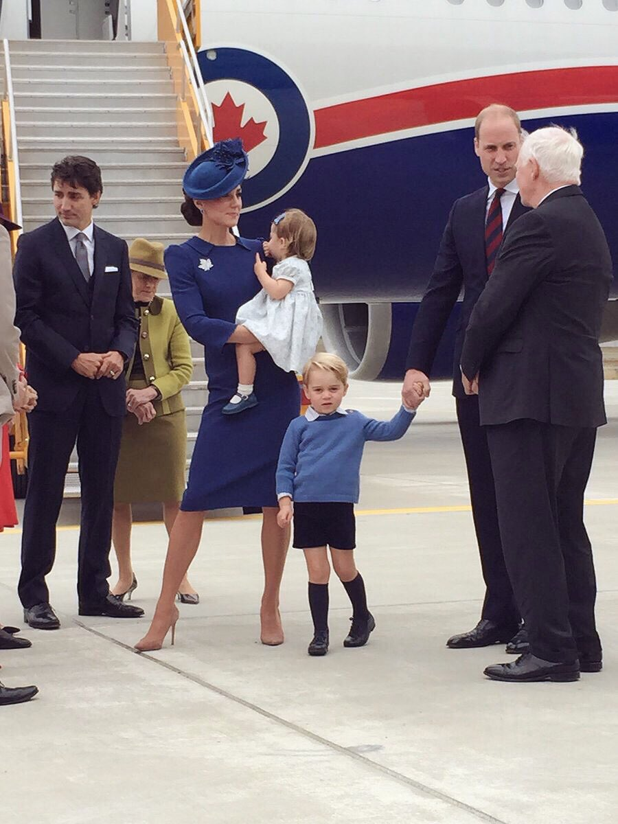 Good Morning Princess In Russian : The duke duchess of cambridge arrive in canada with