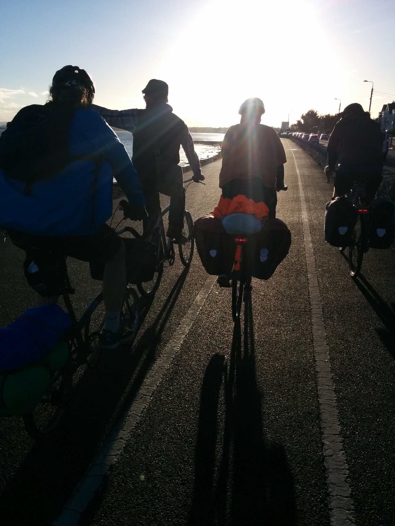 Conor shows us the sights as we cycle into Dublin from Howth