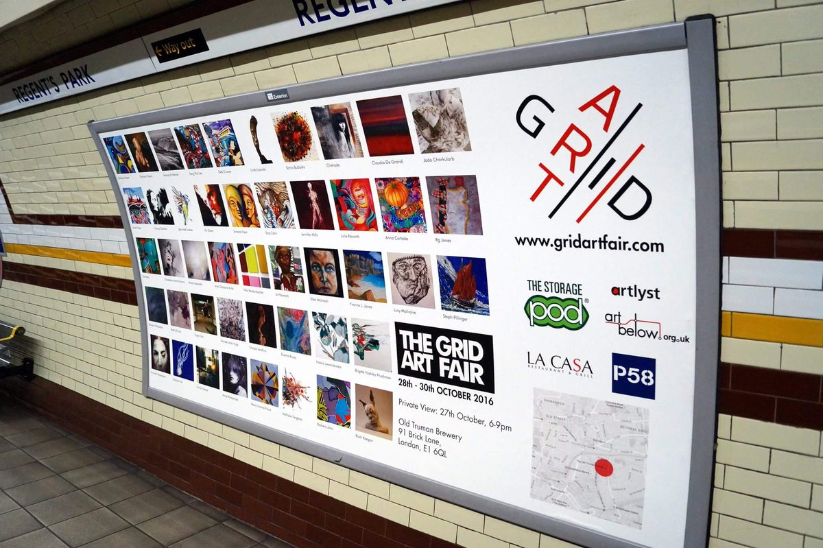 @gridartfair Delighted to be one of the artists whose artworks are on a poster at Regent Park subway!
