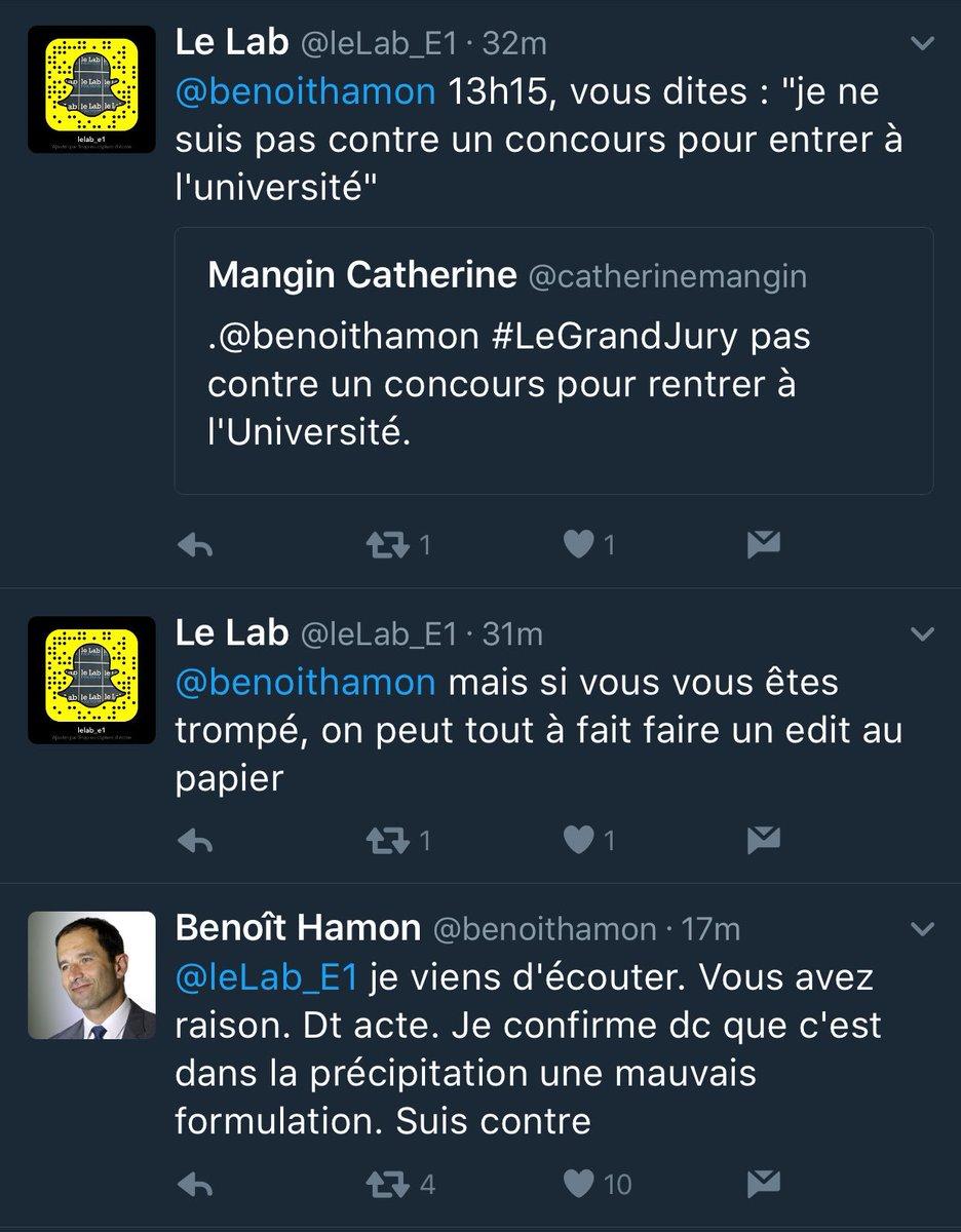 Benoit Hamon On Twitter Je Viens D Ecouter Vous Avez Raison Dt