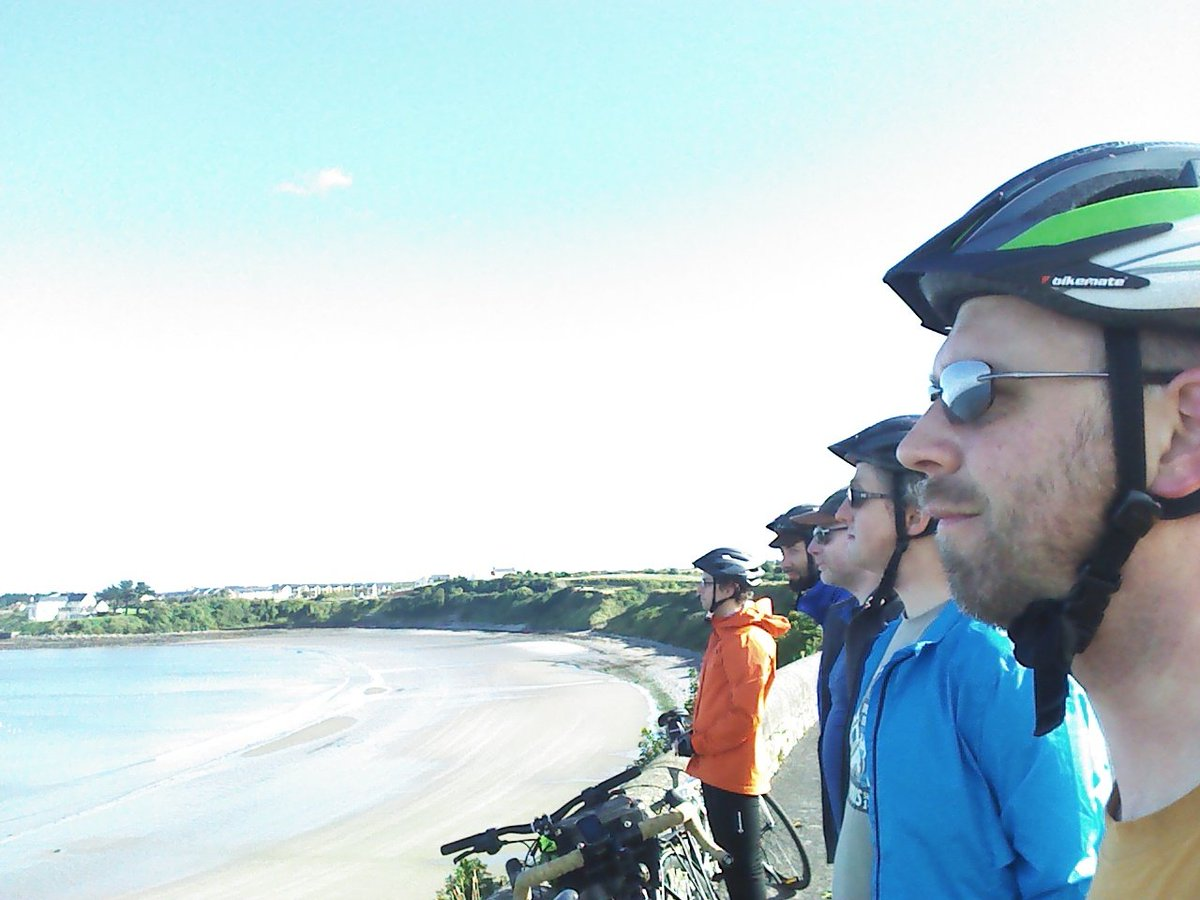 Youri, Christian, Stephen, J-P and Martin, gazing at the Skerries
