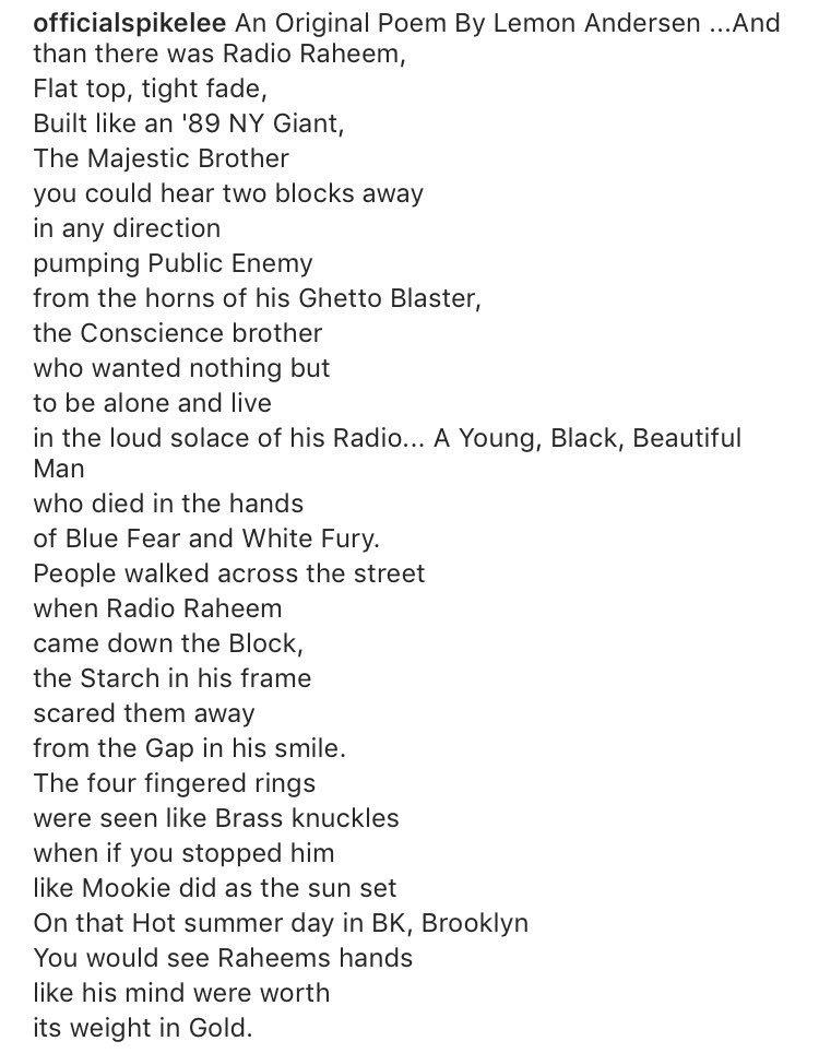 Tiff On Twitter An Original Poem By Lemon Andersen Shared By