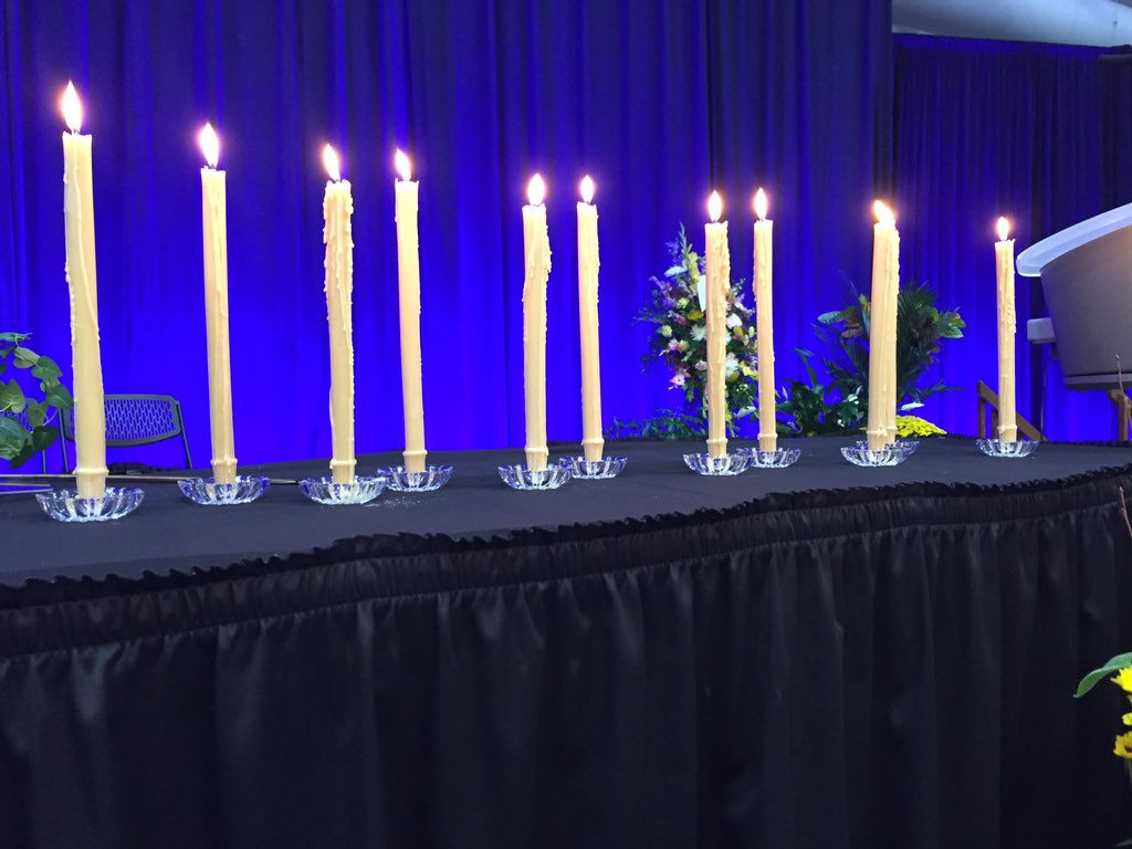 The service has concluded. The 11 candles still burn. #JabobsHopeForever https://t.co/CA51TFnUTQ