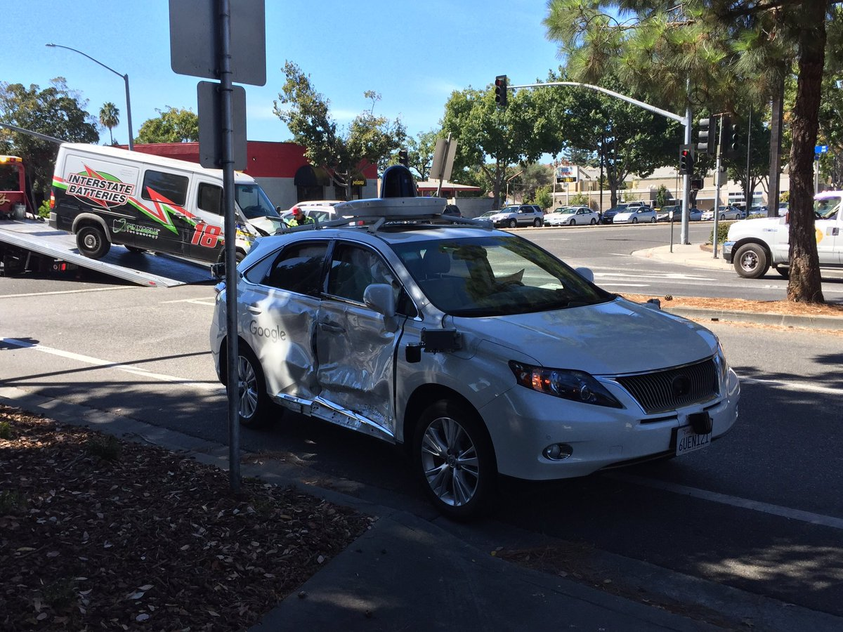 Google S Self Driving Car In Broadside Collision After Other Car