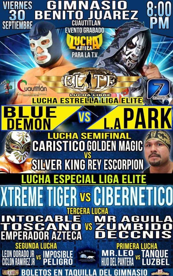 Liga Elite en Cuautitlán: Blue Demon Jr. vs. LA Park 1