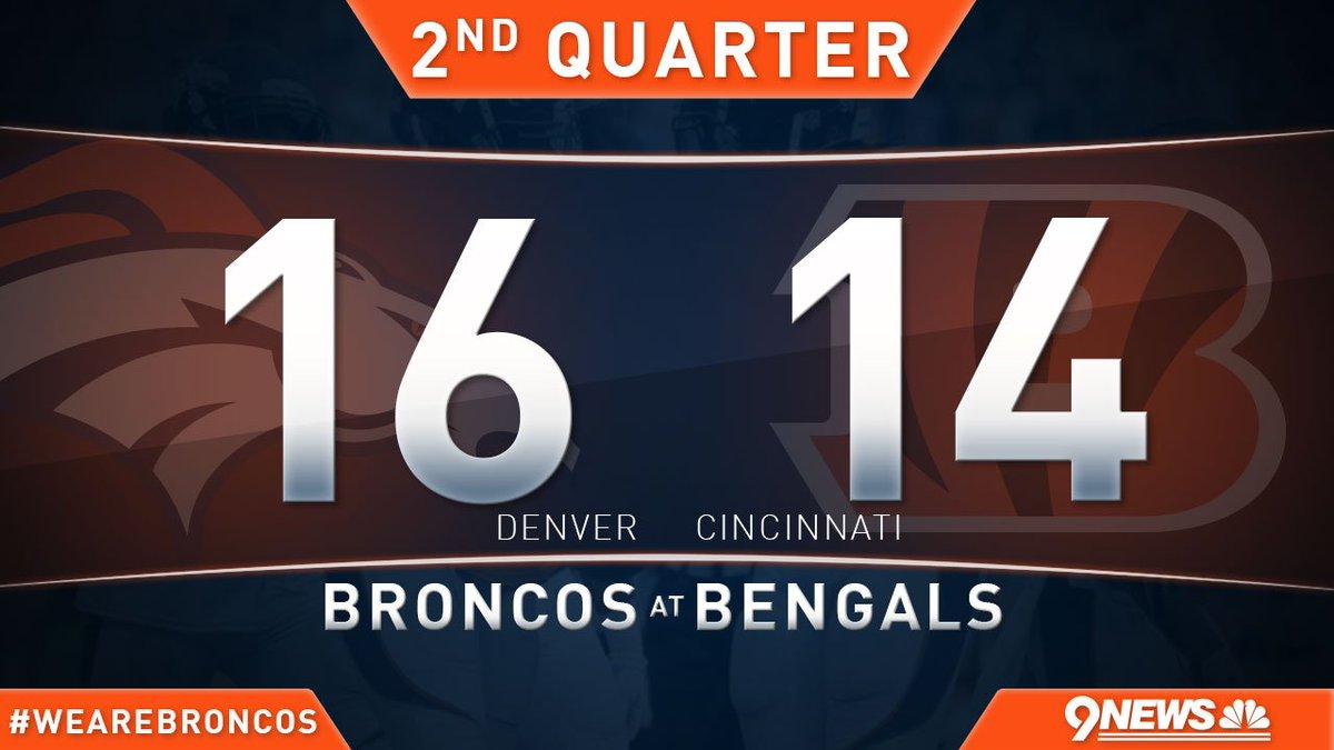 Broncos lead by 2! WeAreBRONCOS BeatTheBengals Live coverage: DENvsCIN