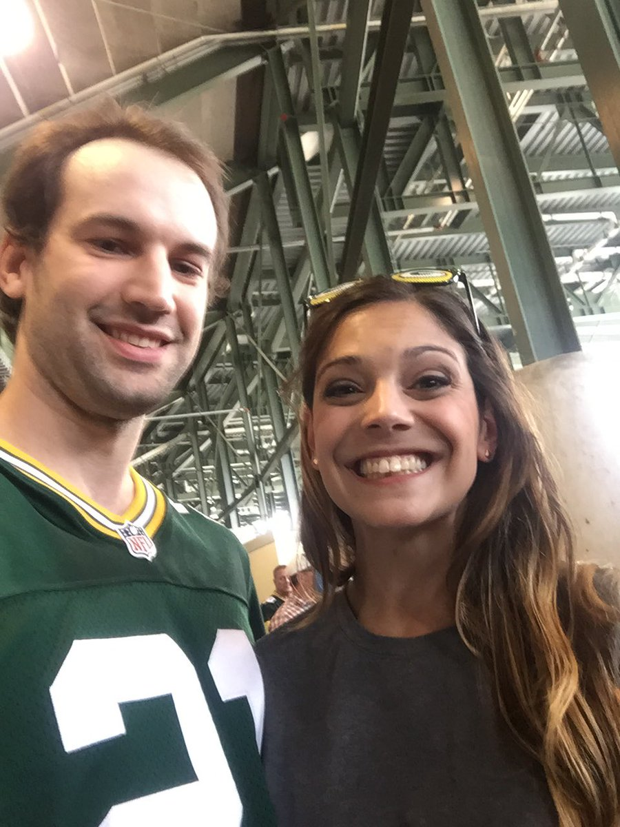 I can't believe I just met @katienolan in my stadium! She's the sweetest