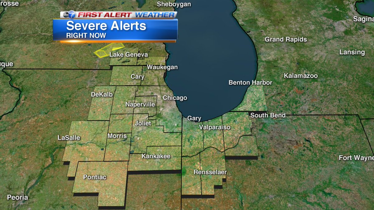 A Severe Thunderstorm Warning has been issued for parts of our area. Check out map to see the location. ABC7Chicago