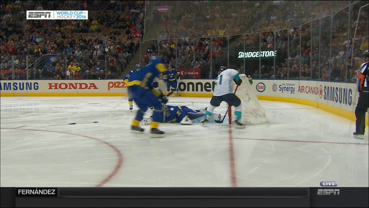 Tomas Tatar scores the OT winner for Team Europe, advancing to the WCH2016 finals.