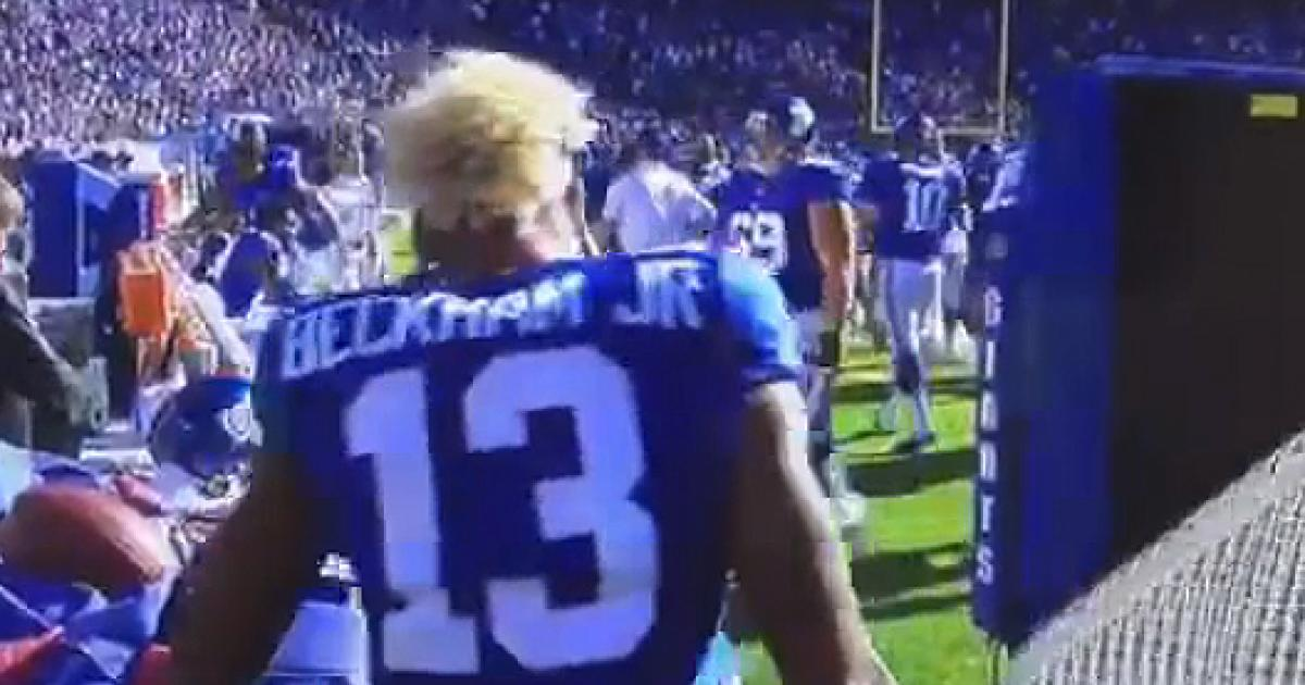 @Giants WR Odell Beckham Jr. throws fit, picks fight with net, cries, etc.
