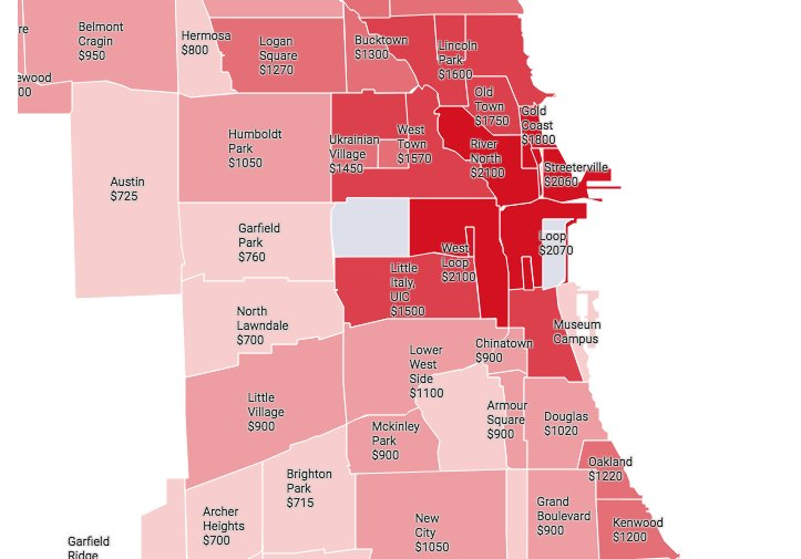 This new rent map shows West Loop, River North as priciest neighborhoods