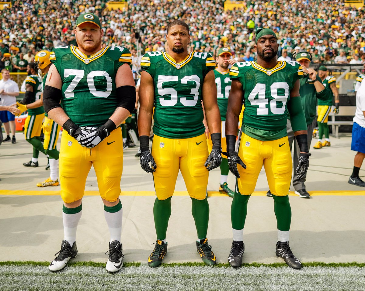 TJ Lang, Nick Perry, and Joe Thomas were captains for the game against the Lions.