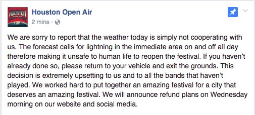A message from @houopenair HoustonOpenAir