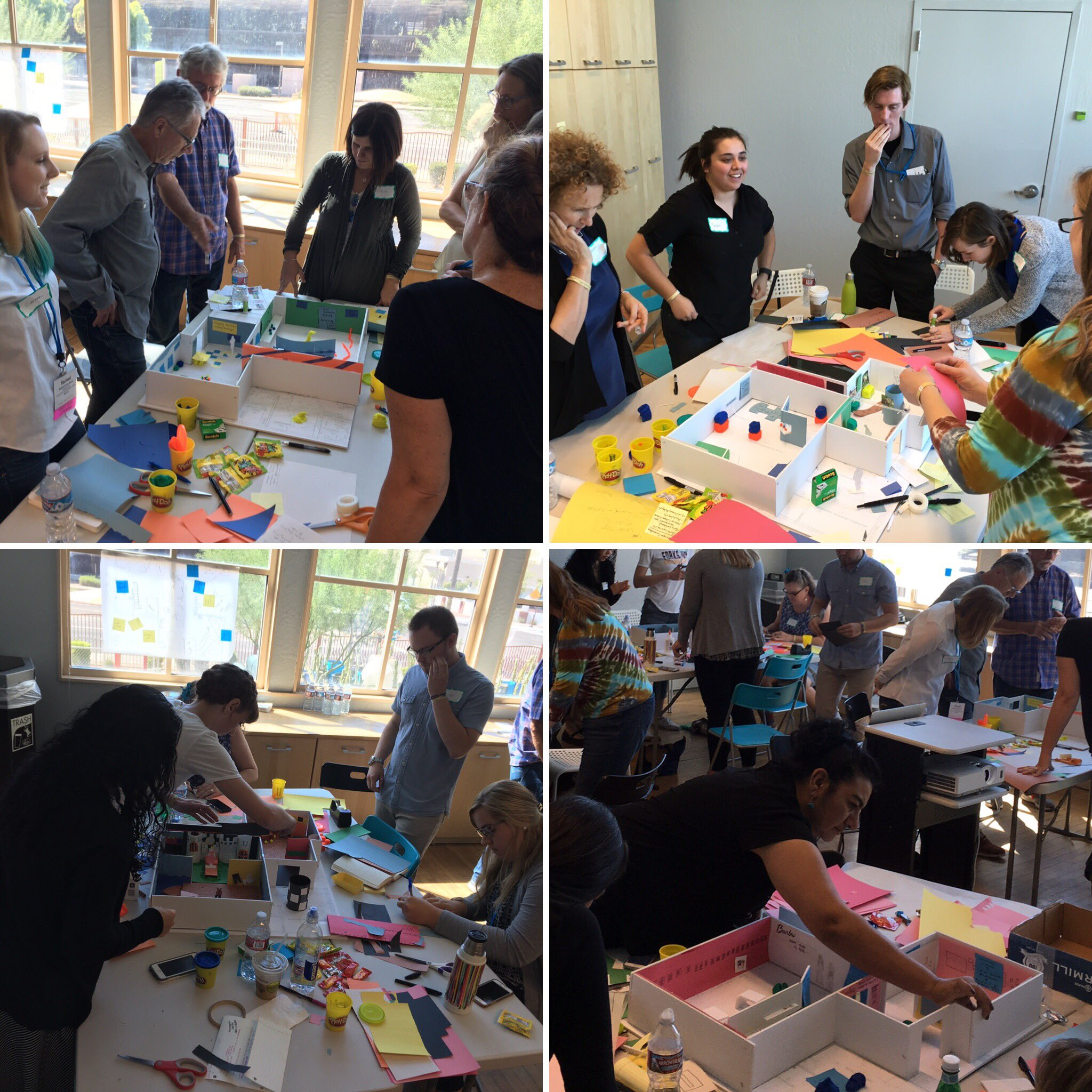 Each group is hard at work, bringing our exhibit ideas to life! #wma2016 #DesignDay @westmuse https://t.co/Kh9doLIf5o