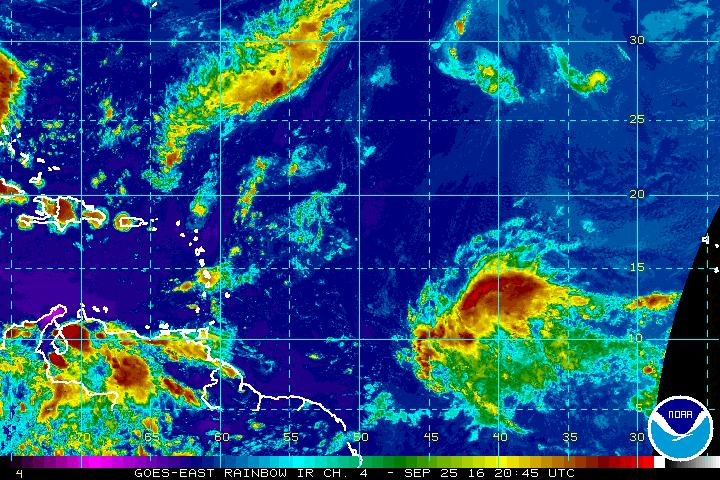 NHC says storm east of the Windward Islands has 90% chance of developing next five days. Next name: Matthew.