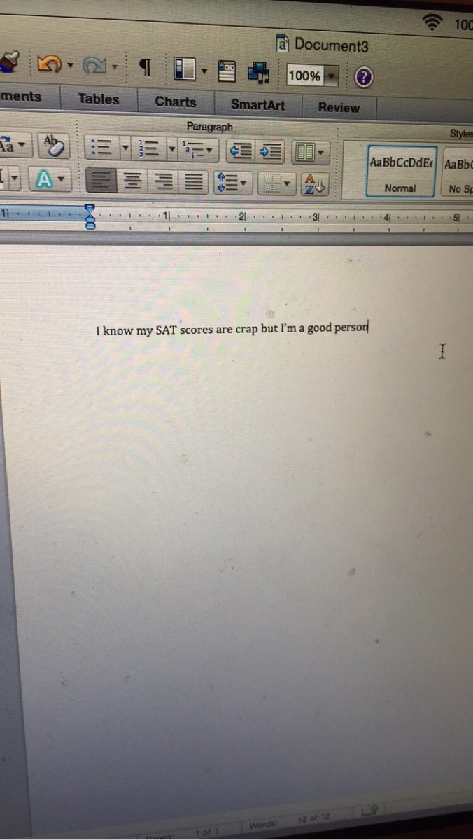 Messed up my college essay?