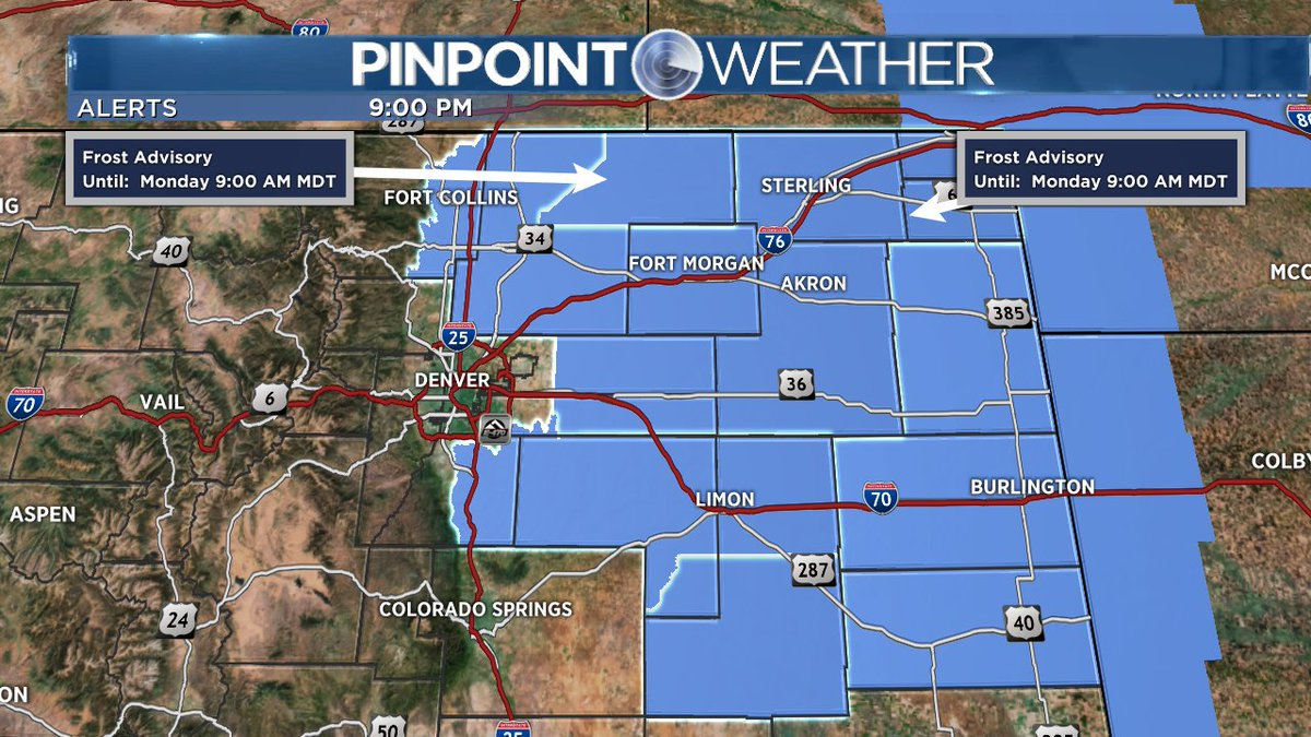 Frosty temperatures possible area wide... cowx alert