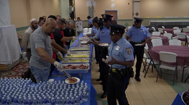 Local mosque serves breakfast for Philadelphia police officers