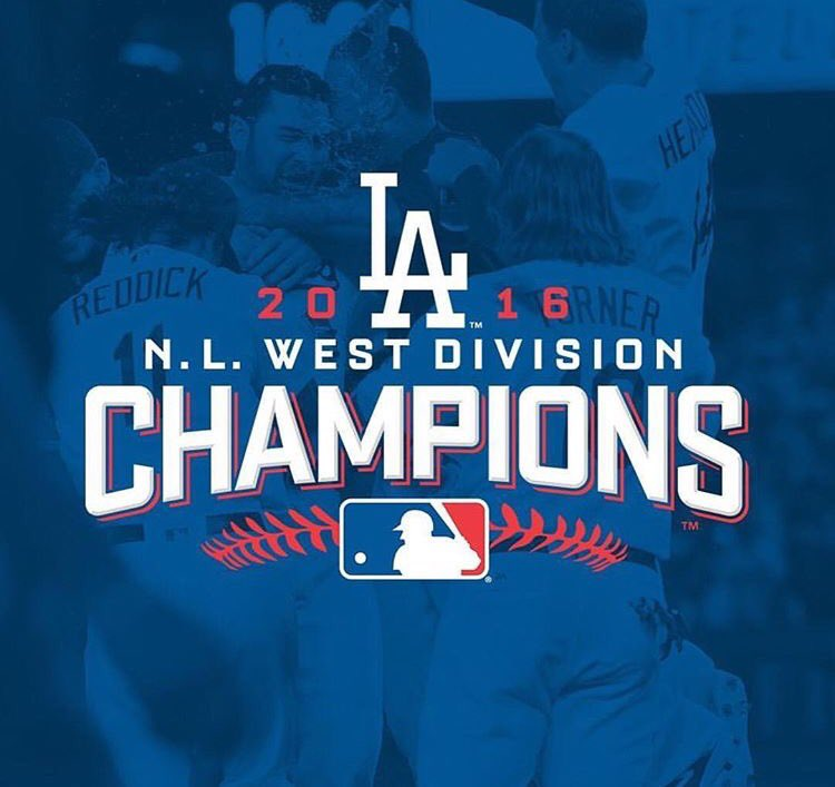 The @Dodgers #WinForVin! They're the NL West champs once again! https://t.co/Frwph9sZ4H https://t.co/NiYF8MWizb
