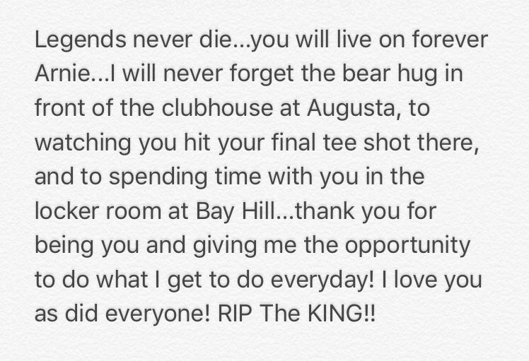 I'll miss you friend #ripTheKING https://t.co/KIoz0CH59F