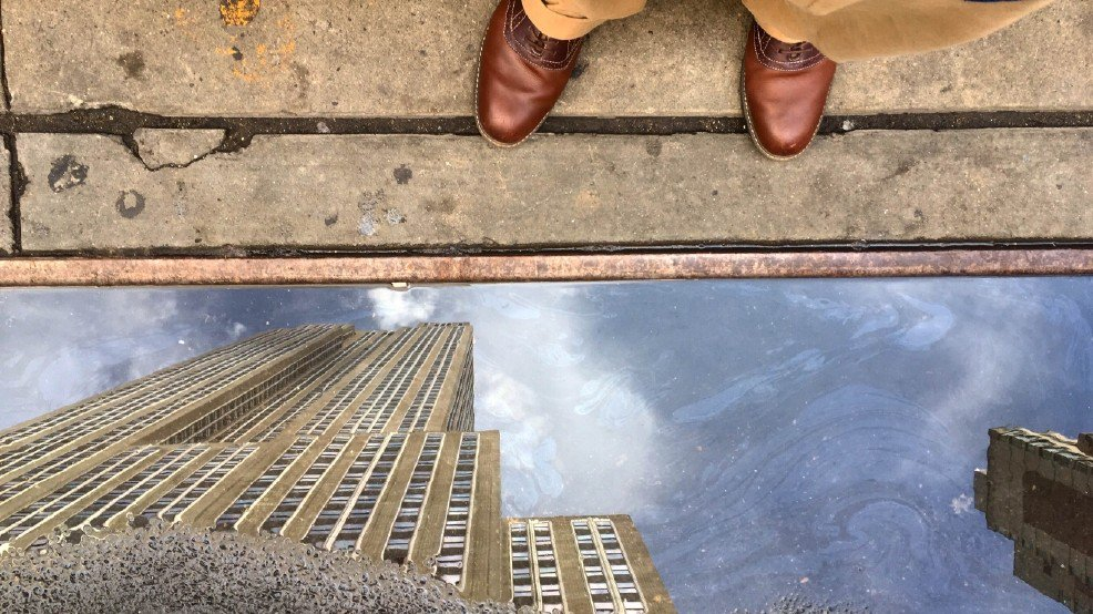 Empire State Building is perfectly 'reflected' in giant puddle: LiveOnFOX45