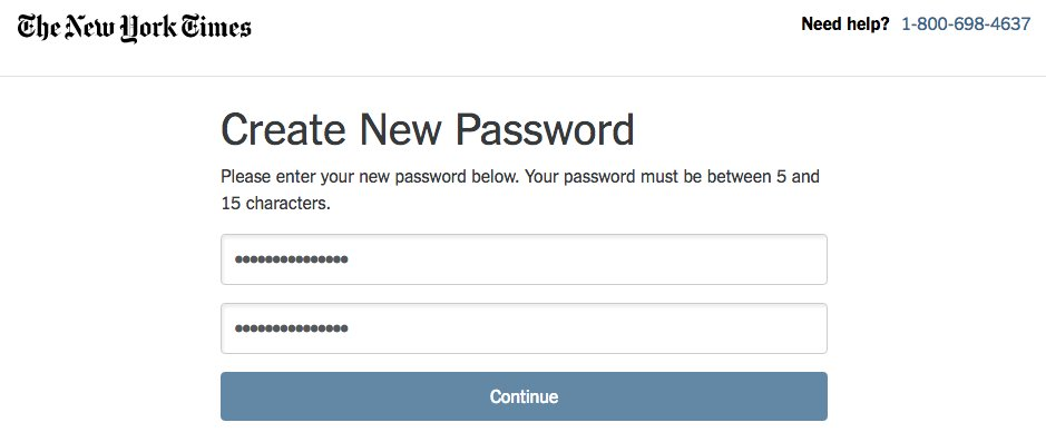 Between 5 and 15, @nytimes? Why such limitations on the password? https://t.co/rDUEfcub1l