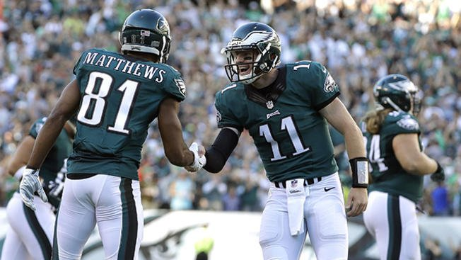Carson Wentz and Jordan Matthews share unique touchdown celebration: EaglesTalk