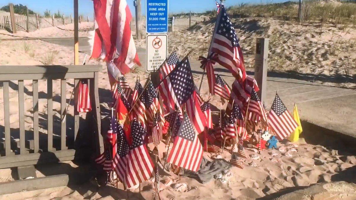 Seaside Park residents turn bombing site into makeshift memorial