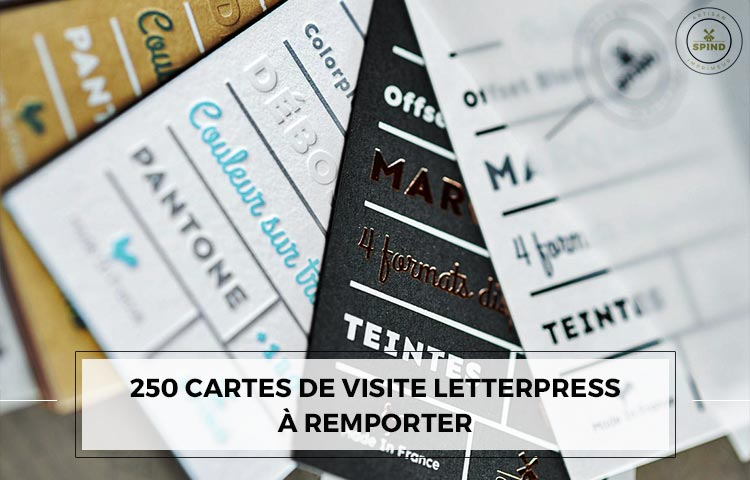 De 250 Cartes Visite Letterpress Remporter Avec Spind