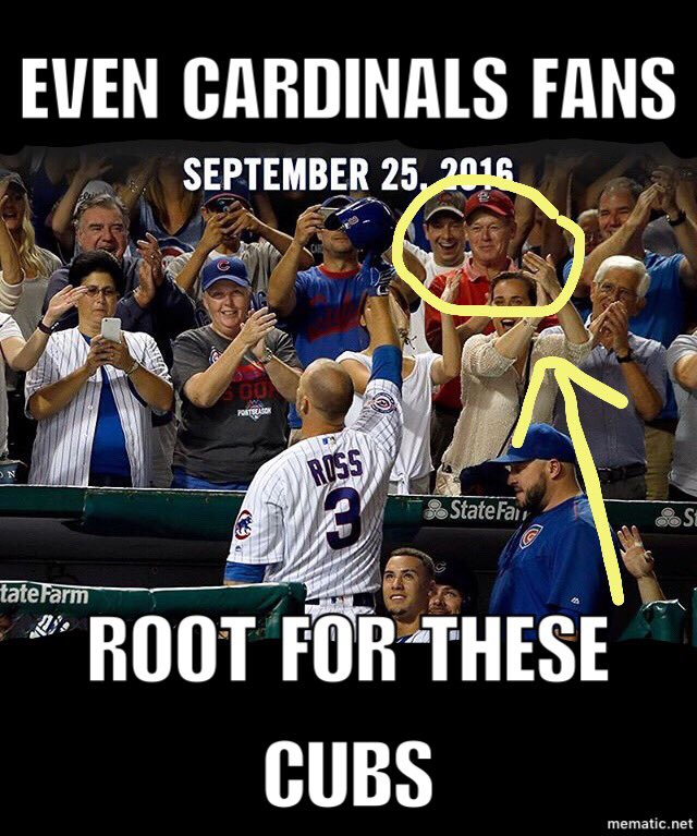 Chicago Cubs Memes On Twitter Even Cardinals Fans Root