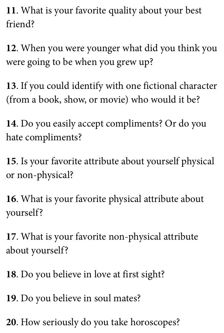 Questions to ask when getting to know someone hookup