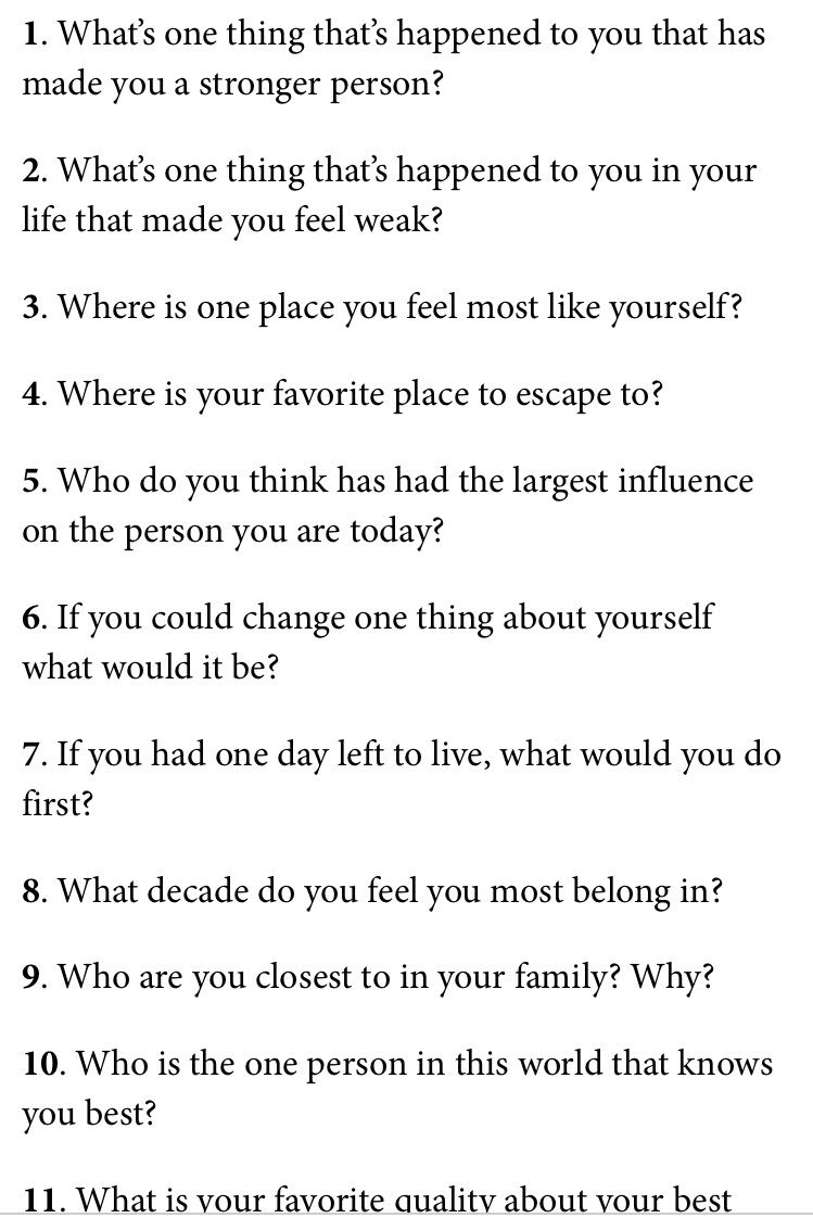 What Questions To Ask To Know Someone Better