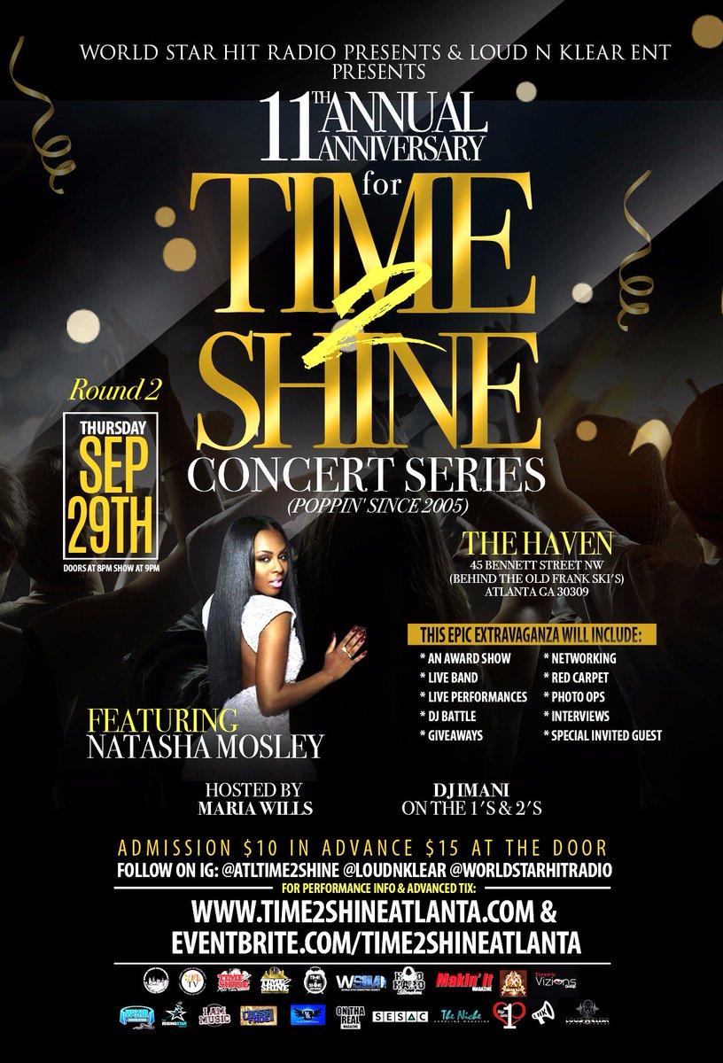 09/29 #Atl Event Lyfe @ATLTIME2SHINE Concert Series feat. @NatashaMosley https://t.co/ce8pb72I4L via @DiamondKesawn https://t.co/eIX39EGsjG
