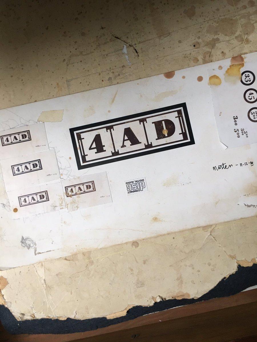 Original master artwork for 4AD logo by Vaughn Oliver. Original held at Epsom UCA. https://t.co/XRaj6hc0Kp