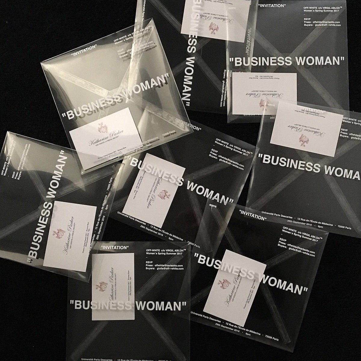 Virgil abloh on twitter katherine parker business cards the virgil abloh on twitter katherine parker business cards the invites to ss17 womens off white runway show live streaming 929 9pm paris local time magicingreecefo Choice Image